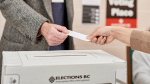 A ballot is cast in the B.C. election. (Elections BC)