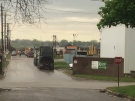 First responders were called K Scrap Resources for an industrial accident in Windsor, Ont., on Monday, May 1, 2017. (Michelle Maluske / CTV Windsor)