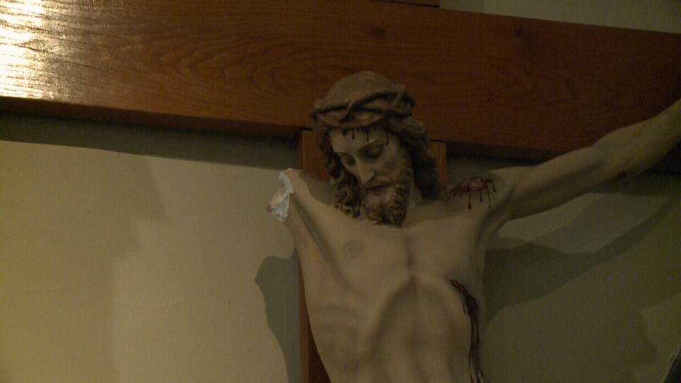 A vandal targeted Jesus on the Crucifix at the front of Ottawa's St. Patrick's Basilica moments before Sunday night mass. Jesus' arm was torn off and votive candles smashed, leaving a trail of destruction.