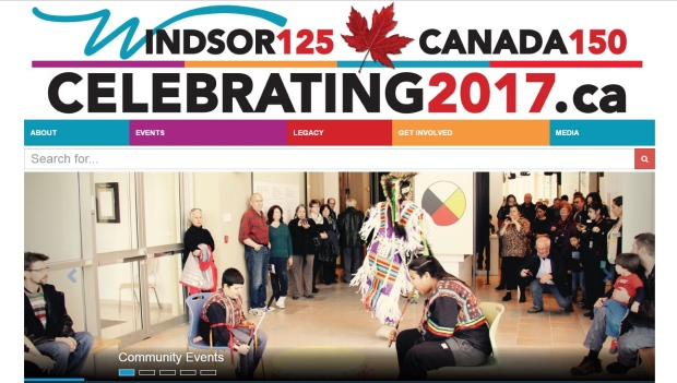 City of Windsor special 125th birthday website