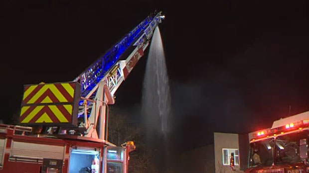 Aerial ladder fire