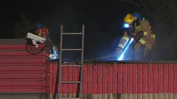 Firefighters knock down fire
