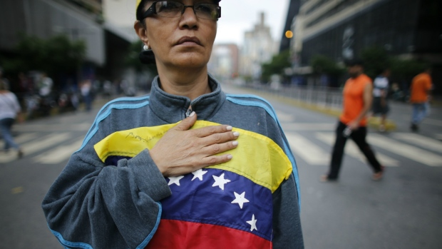 Woman march in Venezuelan capital against socialist govt