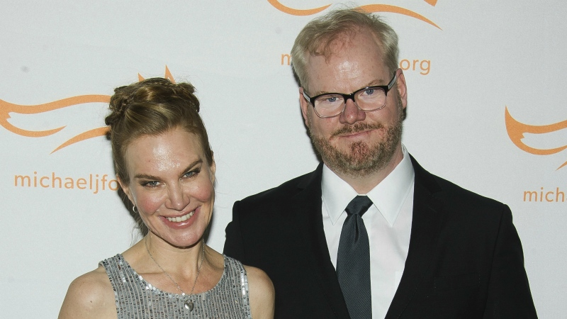 Jeannie Gaffigan, left, and Jim Gaffigan attend The Michael J. Fox Foundation for Parkinson's Research benefit, 'A Funny Thing Happened on the Way to Cure Parkinson's,' in New York on Nov. 22, 2014. (Charles Sykes / Invision)