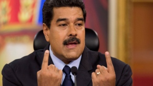 In this Jan. 18, 2017, file photo, Venezuela's President Nicolas Maduro speaks during a press conference at Miraflores presidential palace in Caracas, Venezuela. (AP Photo/Ariana Cubillos, File)