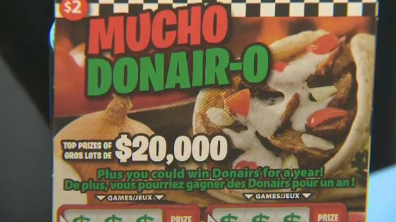 You could win free donairs for a year with this new scratch ticket from Atlantic Lottery.