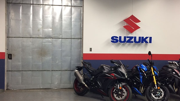 Suzuki Canada in Richmond Hill, Ont. is set to move to Barrie, Ont. Their plant can be seen on Wednesday, May 3, 2017. (Rob Cooper/ CTV Barrie)