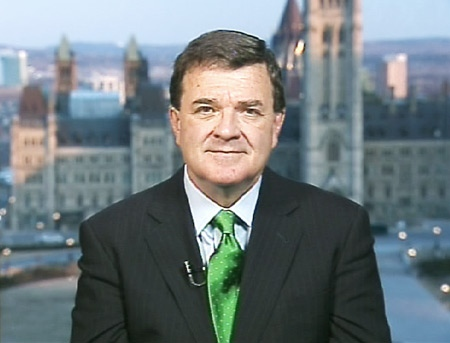 Finance Minister Jim Flaherty speaks on Canada AM from CTV's studios in Ottawa, Tuesday, March 24, 2009.