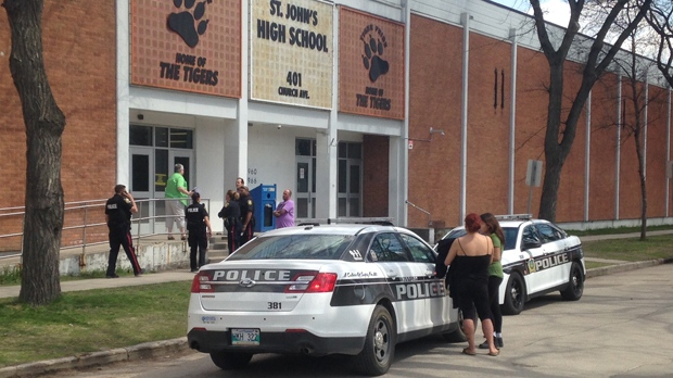 Four people were sent to hospital after a serious incident at St. John's High School. (Glenn Pismenny/CTV Winnipeg)