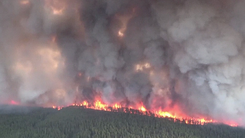 File - The regional district had issued an evacuation alert Saturday morning after the BC Wildfire Service reported that flames had crossed the Salmo River and were heading toward Salmo, B.C.