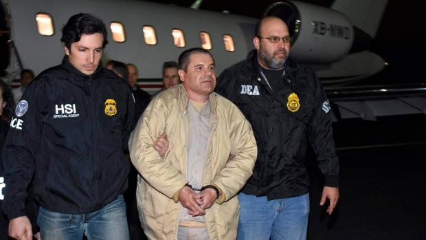 Joaquin 'El Chapo' Guzman, centre