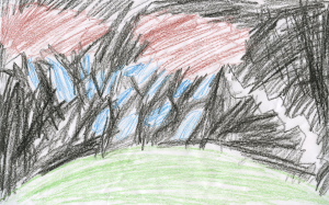 Weather art by Sohaan, age 6.