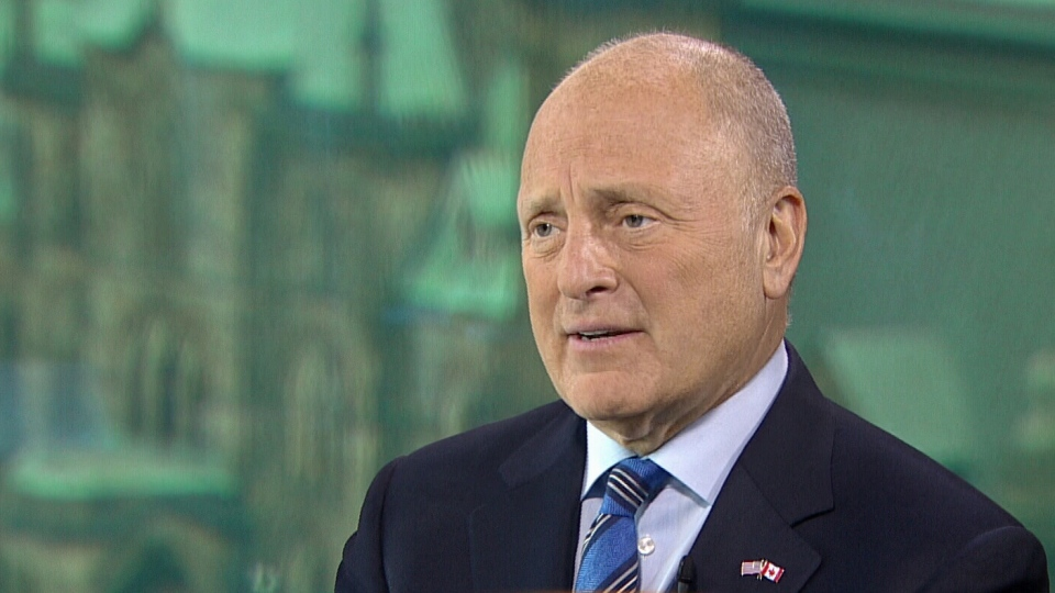 Former U.S. ambassador Bruce Heyman speaks to Evan Solomon, host of CTV's Question Period. (CTV)