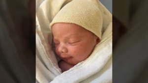 A photo of baby Justin-Trudeau who was born Thursday evening at around 6:10 p.m. (Sam Nammoura/Facebook)