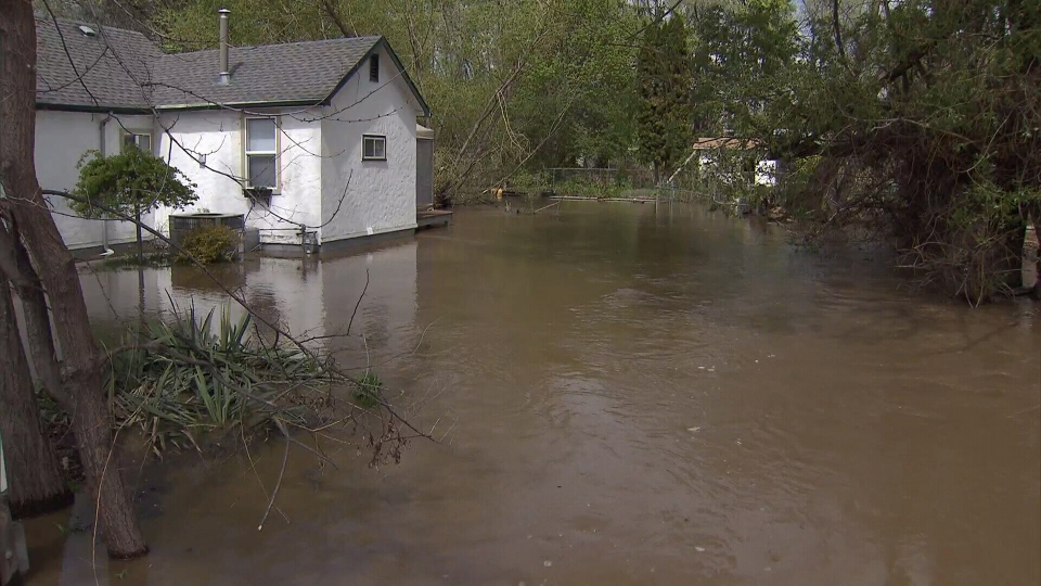 Heavy flooding is seen in the interior of British Columbia. (CTV)