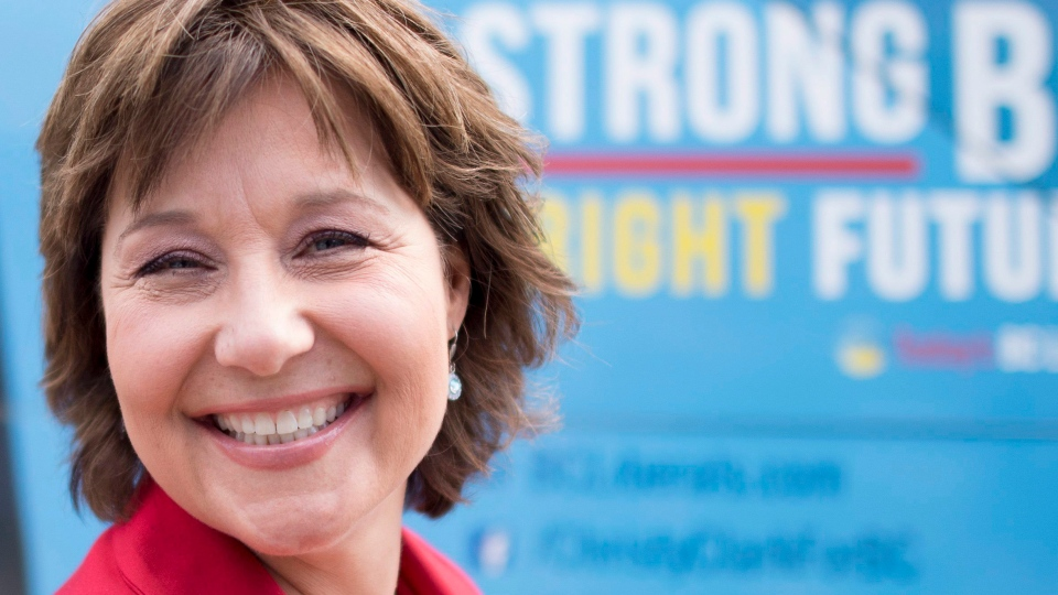 B.C. Liberal leader Christy Clark makes a campaign stop in Surrey, B.C., Sunday, May 7, 2017. The British Columbia election will be held on Tuesday. (THE CANADIAN PRESS/Jonathan Hayward)