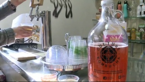 Kombucha has been around for centuries, and is made by fermenting black tea with a yeast mixture called a SCOBY, or a 'symbiotic colony of bacteria and yeast.'