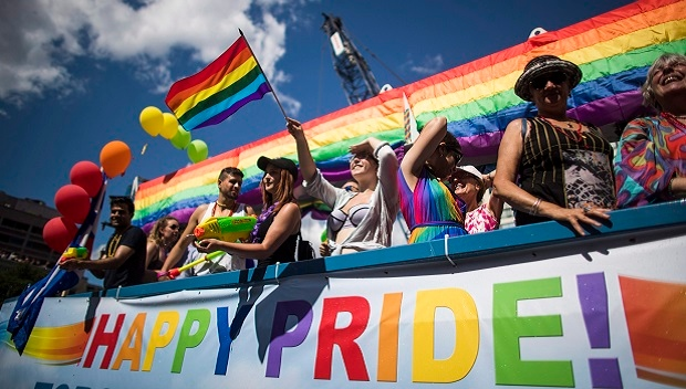 People participate during the annual Toronto Pride Parade, in Toronto on Sunday, July 3, 2016. (THE CANADIAN PRESS/Mark Blinch)