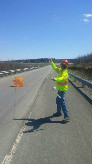 Wayne Watters and his co-worker found this contraption on a highway in New Brunswick. It wasn't the only one of its kind to fall from the sky in last week!