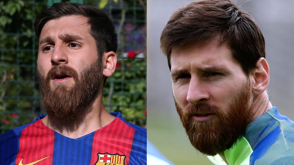 Messi lookalike kicking up a commotion in Iran