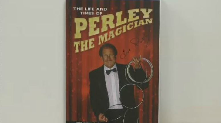 The book 'The Life and Times of Perley The Magician' chronicles the magical life of Perley Palmer.
