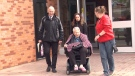 Jean Knox leaves a Barrie, Ont. court on Tuesday, May 9, 2017. (Mike Walker/ CTV Barrie)