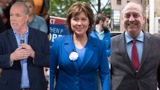 The BC Liberals win a minority government