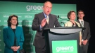 Extended: Green Leader Andrew Weaver speaks at HQ