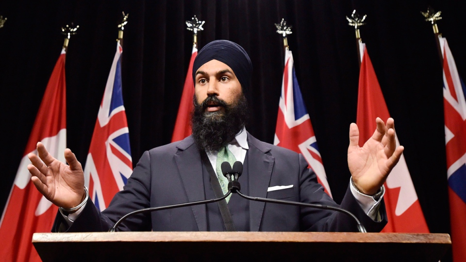 Jagmeet Singh at Queen's Park in Toronto on Oct. 28, 2015. (Nathan Denette / THE CANADIAN PRESS)