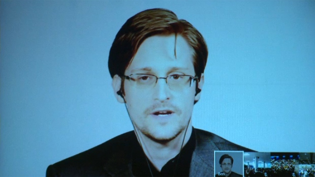 Edward Snowden spoke via video link to the University of Winnipeg and Brandon University, along with the University of Lethbridge in Alberta,  from Russia, where he lives in exile after quitting the National Security Agency in the U.S. and revealing some of its surveillance secrets.