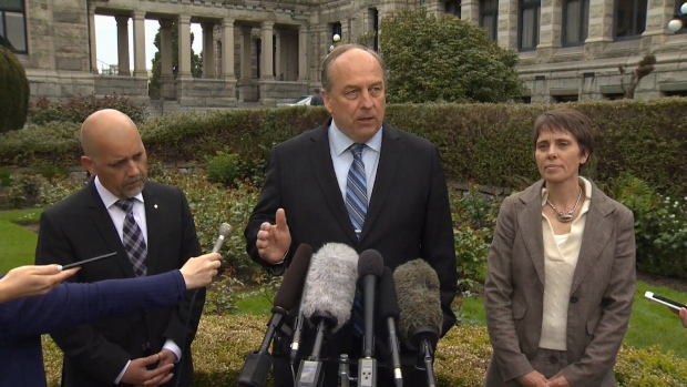 BC Green caucus being sworn in as MLAs in Victoria