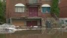 A flooded street in Ste. Anne de Bellevue on May 10, 2017