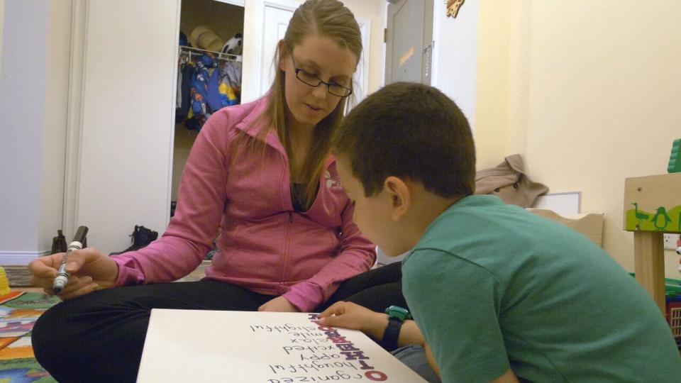 Volunteer Kate Vandenborre spends four hours per week with Mohamed.