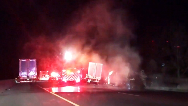 Multi-vehicle crash on Highway 401