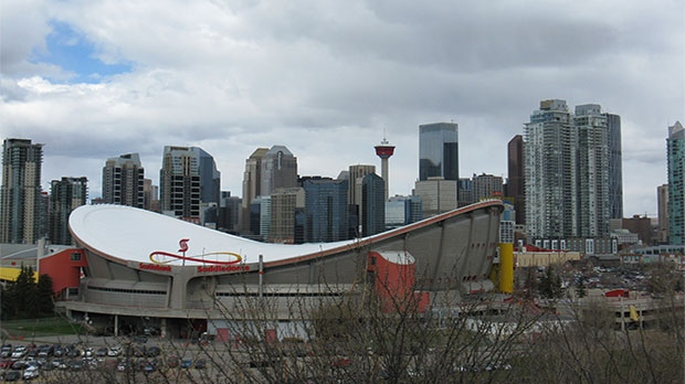 The Saddledome was built in 1983 and is one of the oldest buildings in the NHL.
