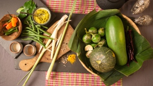 Ingredients for the Cambodian Kako soup are among those featured in the UNDP's cookbook. (Photo: Andrea Egan)
