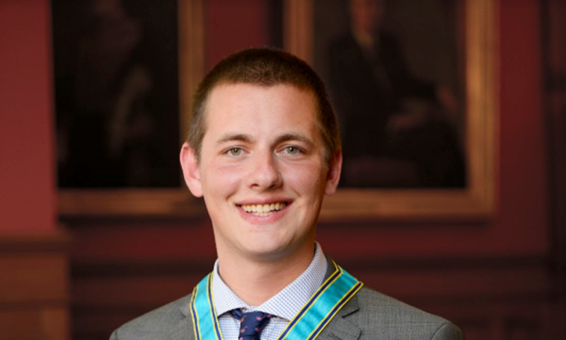 Justin Tiseo received the Ontario Medal for Young Volunteers on Wednesday, May 10, 2017. (Courtesy the Government of Ontario)