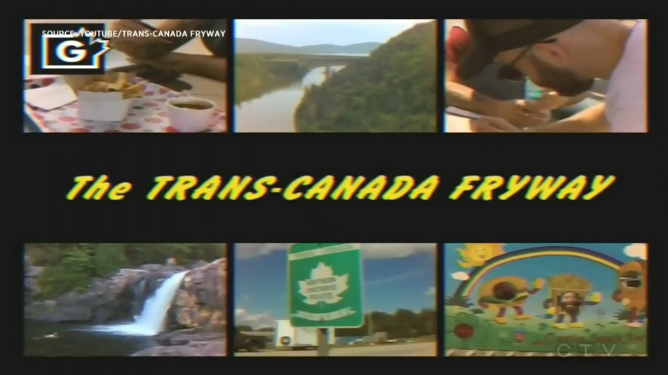 The group filmed their journey through Ontario's chip trucks in retro-themed videos. (Trans-Canada Fryway/Youtube)