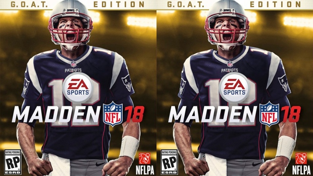 Tom Brady on the the cover of Madden 18
