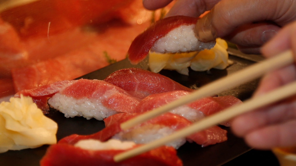 Doctors warn sushi eaters of parasite in raw fish ctv news for Is sushi raw fish