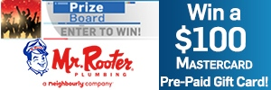 Mr. Rooter - Prize Board
