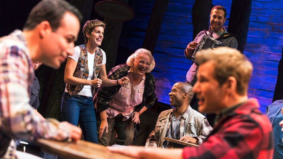 """The cast of """"Come From Away,"""" are shown in a 2016 handout photo. (THE CANADIAN PRESS/HO-Matthew Murphy)"""