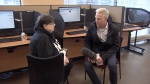 Ross McLaughlin takes Sharon Beggs to a Service Canada office after the government declares her dead. (CTV)