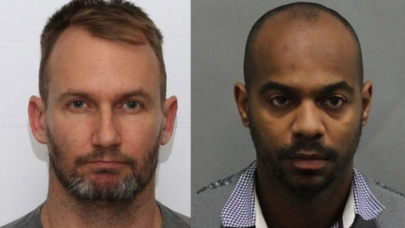 Former College Street Bar owner, Gavin MacMillan, left, and former employee, Enzo De Jesus Carrasco, right, are facing charges. (Toronto Police Services)