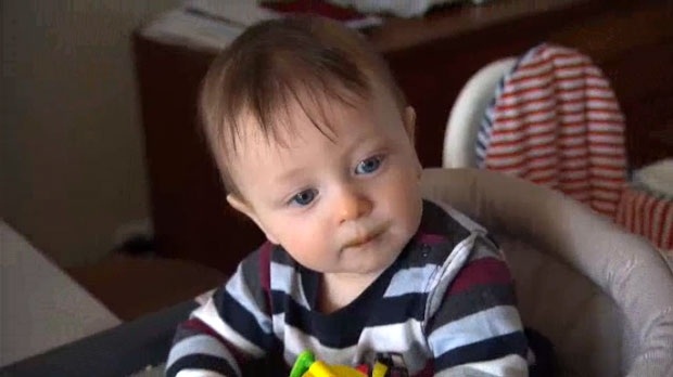 Angela Engel's eight-month-old son Jacob is shown.