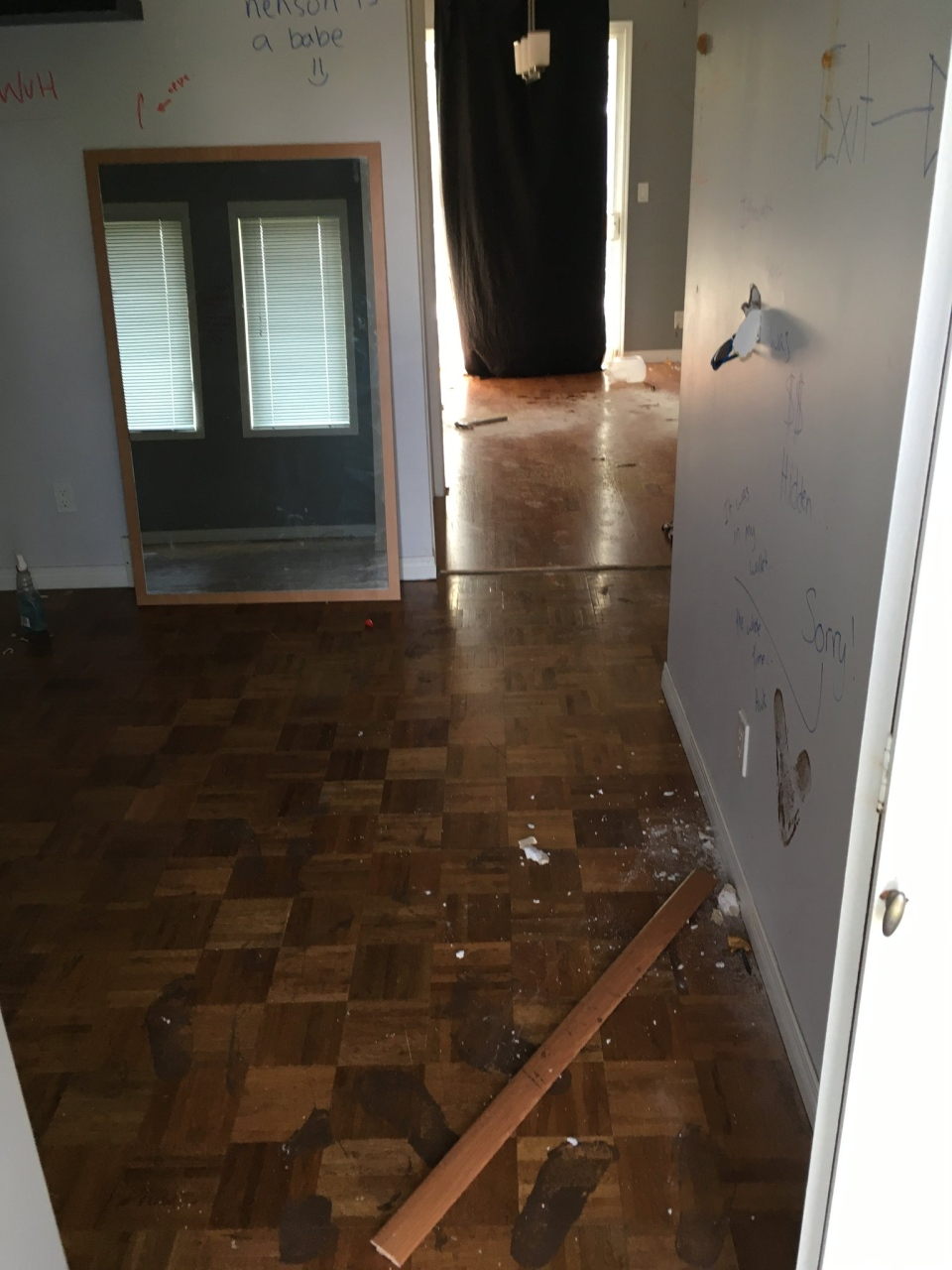 Renters recently caused $40,000 in damage to a home in Regina. (LISA NENSON/SUBMITTED PHOTO)