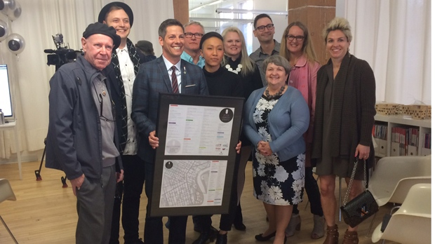 Mayor Brian Bowman was at an unveiling for Design Quarter Winnipeg Friday morning and supports the initiative. (Josh Crabb/CTV Winnipeg)