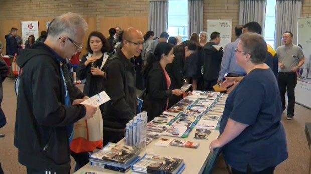 A career services fair on Saturday helped people with their job searches.