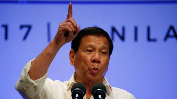 Philippines President Rodrigo Duterte at the 30th ASEAN Leaders' Summit in Manila, Philippines, on April 29, 2017. (Bullit Marquez / AP)
