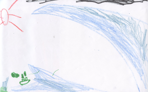 Weather art by Jawad, age 7.